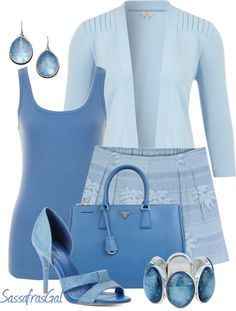 """""""Blue's Hues"""" by sassafrasgal ❤ liked on Polyvore"""
