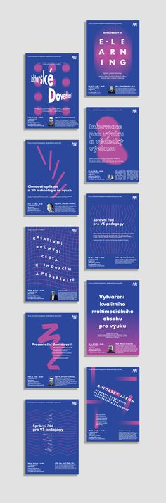 Graphic design posters for Faculty of Architecture CTU in Prague.