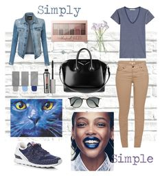 """""""Untitled #14"""" by chandylion on Polyvore featuring Brewster Home Fashions, Vince, Barbour, New Balance, Givenchy, Burberry, Benefit, Maybelline, Ray-Ban and LE3NO"""