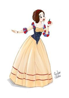Super cute piece based on the Historically Accurate Disney Princesses series