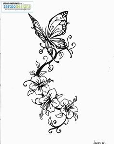 Higher Resolution Butterfly Tattoo