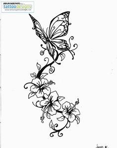 Higher Resolution Butterfly Tattoo