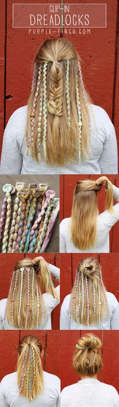 Peace, Love, & Dreadlocks. Discover your inner Hippie! Synthetic Dreadlock Extensions