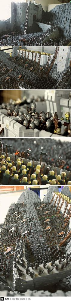 I am in love with this. So much better than the lame purchasable Helms Deep Set by Lego.