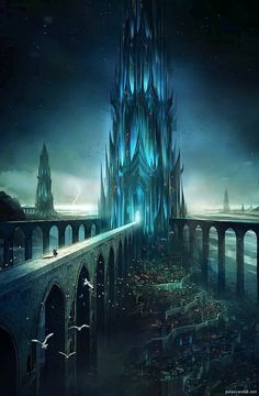 Story inspiration: setting Looks like a cross between the White Witch s castle and Jotunheim : Fantasy landscape Fantasy city Fantasy castle
