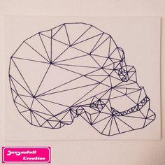 Tête de mort géométrique