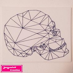 Geometric skull by Seasonfall on Etsy