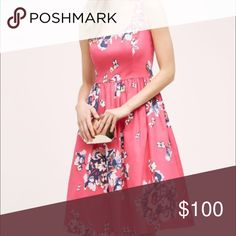 NWOT Anthropologie online exclusive! Current! Beautiful pink dress with petty coat under. Never worn. Currently online on website. Full price on website. This is such a steal at this price! Donna Morgan Anthropologie Dresses