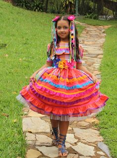 Vestido de Menina Quadrilha Festa Junina R$240