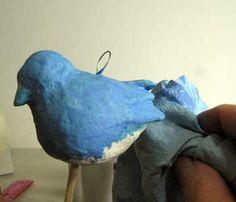 Tutorial de un pájaro azul.