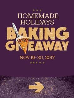 I entered the @Dixie Crystals #DixieCrystals     Homemade Holidays Baking Giveaway! Enter daily between 11/19 - 11/30. 250 winners in all!