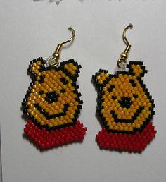 Golden Bear Earrings by shamlynn on Etsy, $18.00