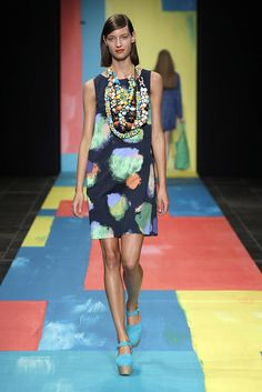 View all the catwalk photos of the Marimekko spring / summer 2014 showing at Copenhagen fashion week.  Read the article to see the full gallery.