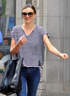 Miranda Kerr + Stripes
