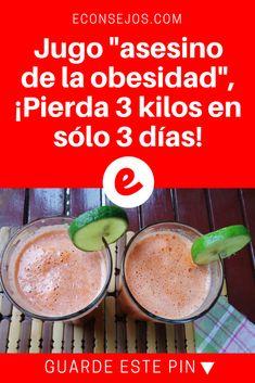 """Jugo """"asesino de la obesidad"""", ¡Pierda 3 kilos en sólo 3 días! Água aromatizada emagrece e turbina a saúde: 7 receitas poderosas - Bolsa de Mulher"""