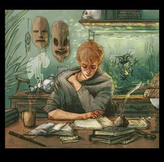 Professor Lupin - art by atalienart on Tumblr.