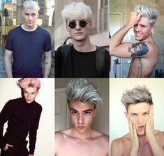 cabelo platinado, platinado masculino, cabelo masculino, corte masculino…