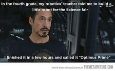 Tony Stark's 4th grade science fair project!