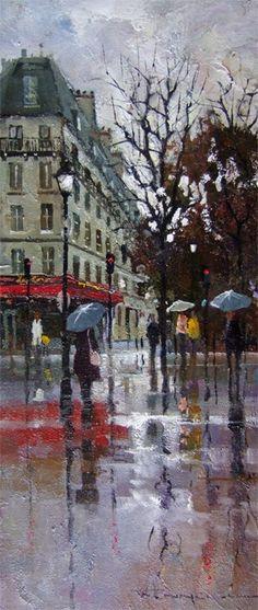 Peter Fennell (Australian, b. 1949) - Paris