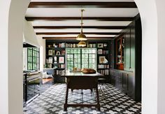 Beautiful Black and White Tile Floor, Work of Jessica Helgerson