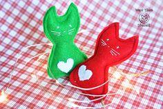Christmas Cat toys Unique cat toys Felt cat toys Xmas