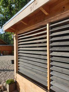 Outdoor Pergola, Gazebo, Outdoor Decor, Bbq Shed, Shutters, Garden Inspiration, Fence, Outdoor Living, Backyard