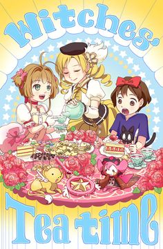 Witches Tea Time <3 Aww! I adore these girls!