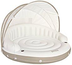 Canopy Island Pool Lounge Float with Sun Shade Canopy and Cup Holders Only 1 In Stock Order Today! Product Description: The Intex Canopy Island includes a fabric sunshade, two built in-cup holders, al Swimming Pool Water, My Pool, Pool Bed, Pool Canopy, Floating Canopy, Pool Lounge Float, Sun Shade Canopy, Cool Pool Floats, Inflatable Furniture