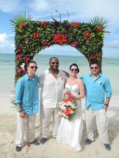 Beautiful beachside wedding in the Bahamas at Small Hope Bay Lodge