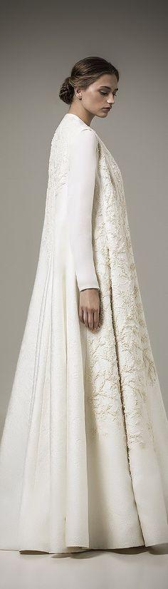 Ashi Studio ~Resort Full Length Embroidered Ivory Caftan, 2016
