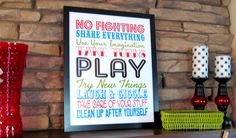 Subway art for playroom (or bedroom) - free printable