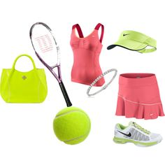 tennis outing, created by motherofanangel on Polyvore