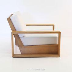 Teak Warehouse   Kuba Teak Outdoor Club Chair