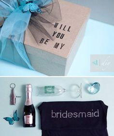Bridesmaids Invite - apparently these are like things that people do? i'm expecting all of y'alls to either be the cutest/sappiest or the goofiest ones ever.