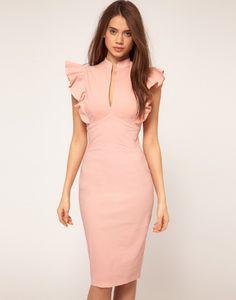 Vestido de Asos color rosa.
