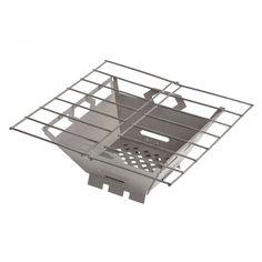 """Titanium Fire Box Grill, $89.95, 5.8 oz/ 164 g., 8""""L x 8""""W x 3""""H,"""