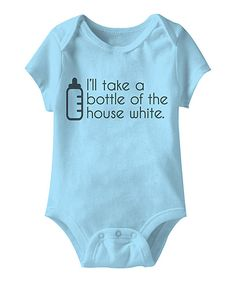 Look at this Urs Truly Aqua 'Bottle of the House White' Bodysuit - Infant on #zulily today!