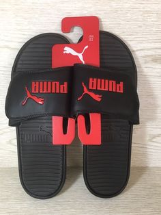e577b6f0bbc4 Puma Men Size 11 Black Flip Flop Sport Thong Slides Beach Sandals New   32.00 888394511162