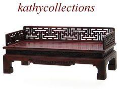 Chinese Dollhouse Furniture Zitan Luohan/Opium Bed