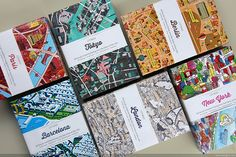 Stylized maps and a fantastic collection of cover art. CITIx60 city guide books presented by 60 creatives.