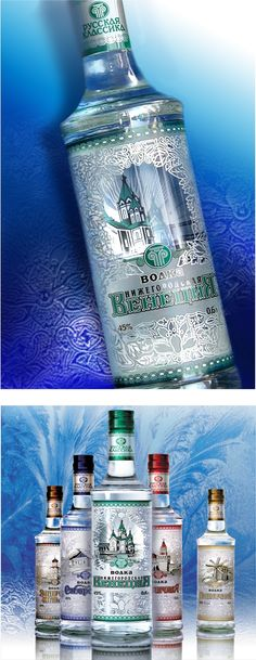 "series of vodka ""Russian classics"" on Behance"