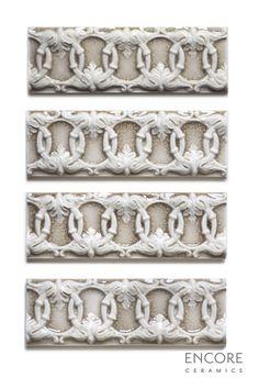 Encore Ceramics | Ovation border hand-glazed in Smoke crackle | Sustainably made in Oregon