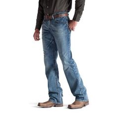 Ariat Low Rise Scoundrel Mens Jeans - Men's style, accessories, mens fashion trends 2020 Jeans Fit, Jeans And Boots, Cut Jeans, Mens Fitted Jeans, Buckle Jeans, Men's Boots, Cowboy Boots, Jamel, Western Wear