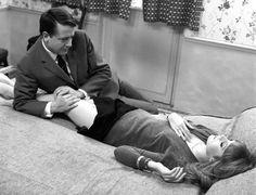 Jean Desailly and Françoise Dorléac, The Soft Skin (François Truffaut, Beau Film, Catherine Deneuve, Love Couple, Couple Goals, Mississippi, Francois Truffaut, French New Wave, Film Images, Willpower