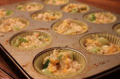 I re-created our well-loved Chicken Broccoli Rice Casserole into a more portable version tonight. Honestly, after making it, I'm not entirely sold on the idea of putting it in muffin tins. Broccoli Rice Cups, Chicken Broccoli, Make Ahead Meals, Quick Meals, Freezable Dinners, How To Cook Chicken, Freezer Chicken, Toddler Meals, Toddler Food