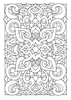 Awesome Coloring Pages for Adults | Think how awesome this would be embroidered! Coloring page mandala ...