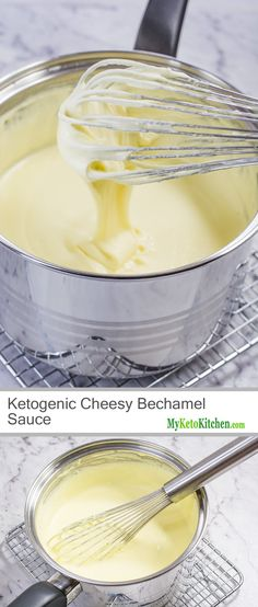 Ketogenic Cheesy Bechamel Sauce (Gluten Free, Grain Free, Low Carb, High Fat)