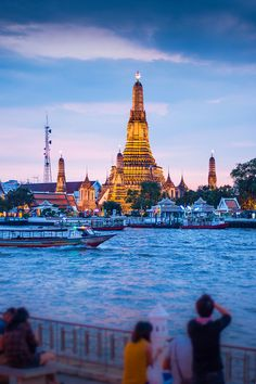 thailand, our favorite phad Thai is across the river from this Wat. Places To Travel, Oh The Places You'll Go, Travel Destinations, Places To Visit, Dream Vacations, Vacation Spots, Thailand Travel, Bangkok Thailand, Visit Thailand