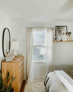 Looking for the best white paint? This minimal bedroom features a warm white paint called Whipped by Clare. #whitepaint #bedroominspo #bedroomdecor #bedroomideas #bedroominspiration #homedecor #interiordesign Best White Paint, White Paint Colors, Wall Paint Colors, White Paints, Bedroom Inspo, Bedroom Decor, White Wall Bedroom, Minimal Bedroom, Floating Nightstand