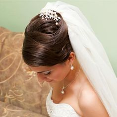 wedding updo with veil | Bridal Hairstyles with Wedding Veils Gallery
